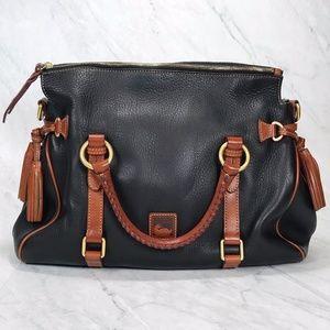 Dooney Bourke Dillen Leather Black Medium Satchel